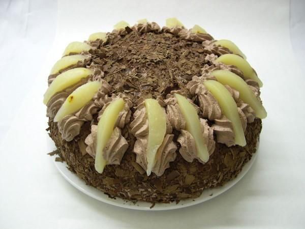 Schokoladen-Birne-Torte